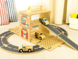 好きなのりものセットが持ち運べる!? 木製おもちゃ「ウッドボックス」シリーズ