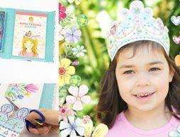 憧れのティアラが自分でかわいく作れちゃう!「ペーパークラウン プリンセスと宝石」