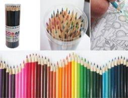 50色揃ってお手頃価格。これなら大人の塗り絵も思いっきり楽しめますね♪