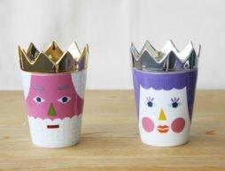 """""""王様と王女様のティータイム♪""""  tupera tupera KING QUEEN CUP & DISH"""