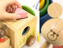 ジャッキー×「木のおもちゃ」が可愛い!!|くまのがっこう木製プルトレイン