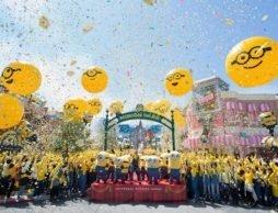 【news】『ミニオン・パーク』が遂にオープン!笑福亭鶴瓶さんとミニオン仮装ゲスト約1500名開幕宣言