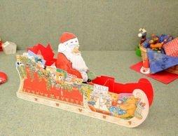 【クリスマス アドベントカレンダー】 立体型サンタのそり