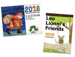 2018年カレンダーの登場です!(2)毎年人気のエリック・カール、フレデリック、彦坂木版工房も!