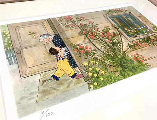 あの名作絵本のワンシーンがお部屋に飾れる!【刷込みサイン入り】林明子プリマグラフィ版画