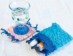 段ボール編み物で小物作りあれこれ