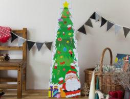 育脳できるクリスマスツリー!? インテリアにもなる『かさねて ならべてクリスマス』