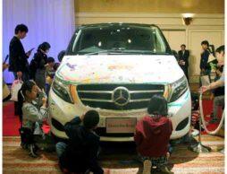 【ヤナセ×絵本ナビ】メルセデスベンツ車にお絵かき イベントを開催