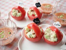 触れて楽しむ!真っ赤で可愛いトマトのレシピ☆お子様のワクワクの芽を伸ばそう