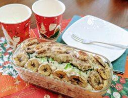 「冬が旬の小松菜とバナナの米粉パウンドケーキ」 を子どもと一緒に作ろう!