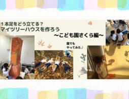 【絵本アクティビティ】『ツリーハウスがほしいなら』を読んでマイツリーハウスを作ろう~こども園さくら編~