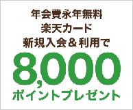 楽天カード新規入会&利用でお得なポイントゲット!